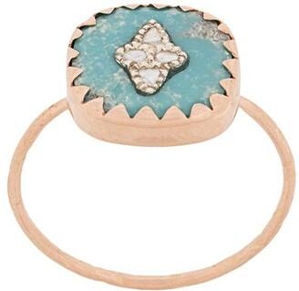 Pascale Monvoisin 9kt rose gold PIERROT TURQUOISE ring