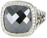 David Yurman Albion 925 Sterling Silver Hematite 0.31cts Diamond Ring Size 7