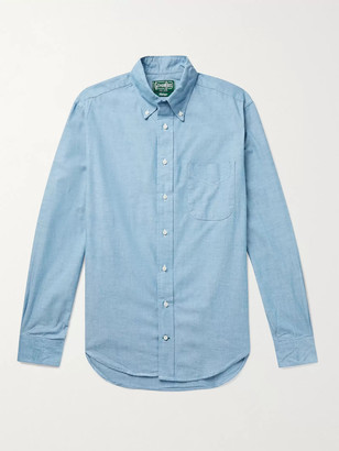 Gitman Brothers Slim-Fit Button-Down Collar Cotton-Chambray Shirt
