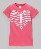 Micro Me Hot Pink Heart of Bones Tee - Toddler & Girls