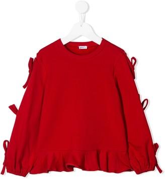 Piccola Ludo ruffled loose-fit sweatshirt