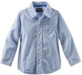 Osh Kosh Striped Button-Front Oxford Shirt