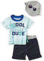 Baby Starters Baby Boys 3-12 Months Cool Little Dude Short-Sleeve Tee, Shorts, & Hat Set