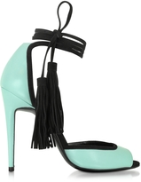 Pierre Hardy Pool Leather and Black Suede Majorelle Sandal