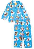 AME Sleepwear Paw Patrol Toddler Boys' 2 Piece Button Down Coat Pajamas Set
