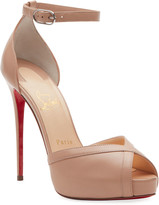 Christian Louboutin Very Cathy 120 Red Sole Sandals