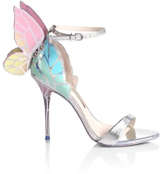 Sophia Webster Chiara Butterfly Metallic Leather Sandals