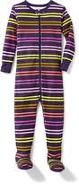 Old Navy Purple Multi-Stripe Footed Sleeper for Toddler & Baby