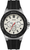GUESS Men's Black Silicone Strap Watch 45mm U0674G3