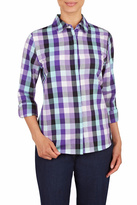 Allison Daley Purple Plaid Shirt