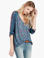 Lucky Brand Roadmap Print Blouse