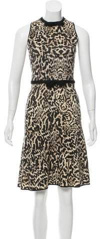 Giambattista Valli Virgin Wool Leopard Print Dress