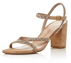 Stuart Weitzman Women's Harlowe Crystal Embellished Sandals