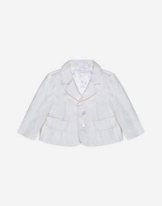 Dolce & Gabbana Single-Breasted Silk Shantung Jacket