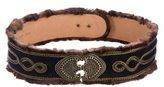 Etro Mink-Trimmed Waist Belt