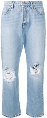 MSGM distressed logo jeans