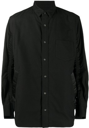 Sacai Contrast Panel Long-Sleeve Shirt