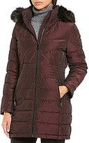 Calvin Klein Traditional Down Faux Fur-Trim Walker Coat