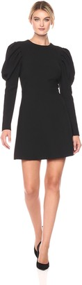 Nicole Miller Women's Dtrechy Tech Puff Sleeve Dress