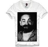 E1syndicate V-Neck T-Shirt Charles Manson Helter Skelter Einstein Lsd Lsa S/M/L/Xl