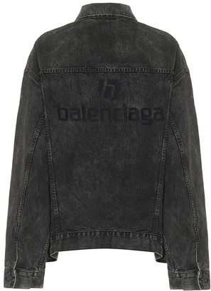 Balenciaga Logo denim jacket