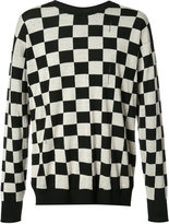 Marc Jacobs checkered distressed knit jumper