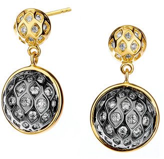 Syna Two-Tone Baubles Diamond Drop Earrings