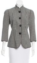 Andrew Gn Wool Houndstooth Blazer w/ Tags