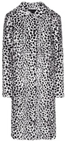 Givenchy Printed fur coat