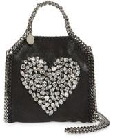 Stella McCartney Tiny Falabella Faux Leather Crossbody Bag - Black
