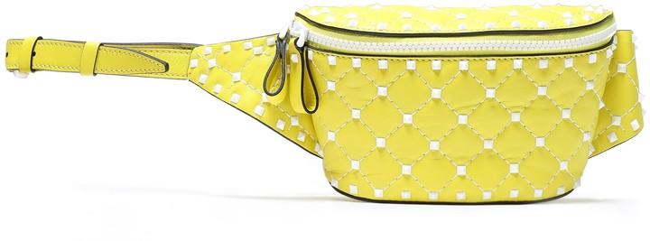 Valentino Garavani Rockstud Spike Quilted Leather Belt Bag