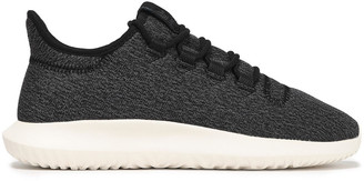 adidas Tubular Shadow Leather-trimmed Stretch-knit Sneakers