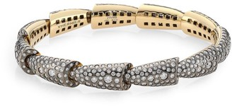 Palladium Calla 18K White Gold Palladium, Titanium & Diamond 11-Element Cuff Bracelet