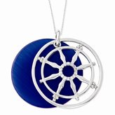 jewelryPot Sterling Silver Synthetic CZ Cat's Eye Stay On Target 18in Necklace.