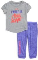 Under Armour Infant Girl's I Wake Up Awesome Tee & Leggings Set