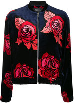Markus Lupfer rose print bomber jacket