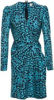 Lanvin Draped Leopard Print Dress - women - Cotton/Polyamide/Spandex/Elastane - 36