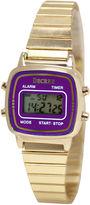 JCPenney Decree Concepts Womens Purple Retro Digital Expansion Watch
