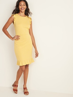 Old Navy Sleeveless Ruffle-Trim Sheath Dress for Women