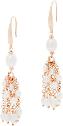 Honora Sterling Silver Cultured Pearl Tassel Earrings