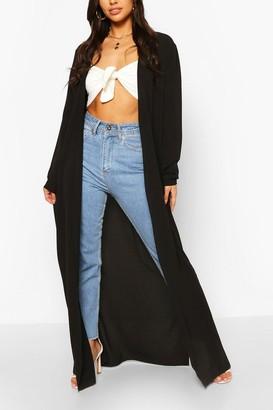 boohoo Woven Maxi Long Sleeve Side Split Kimono