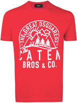 DSQUARED2 logo printed t-shirt - men - Cotton - S