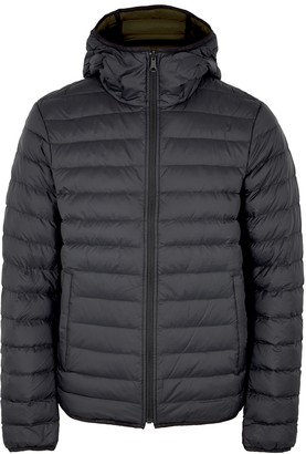 J. Lindeberg Ice black reversible quilted shell jacket