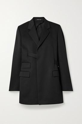 Maison Margiela Oversized Belted Grain De Poudre Blazer - Black