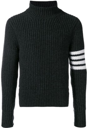 Thom Browne Cardigan Stitch Cashmere Turtleneck