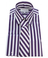 William Hunt Striped Shirt With Matching Tie