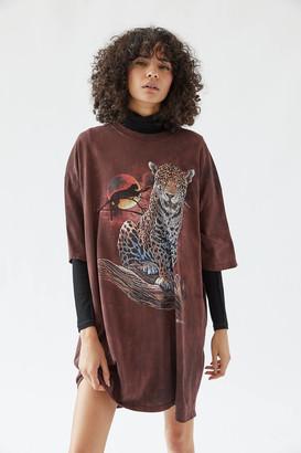 The Mountain Leopard Tie-Dye T-Shirt Dress