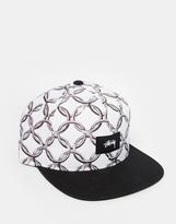 Stussy Chain Snapback Cap - White