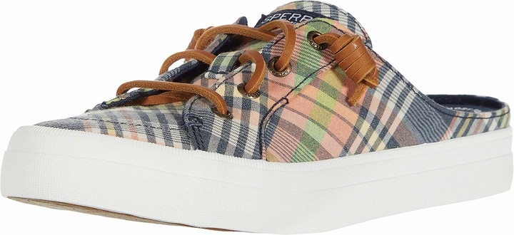 Crest Vibe Mule Washed Plaid Sneaker