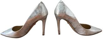 Diane von Furstenberg Silver Leather Heels